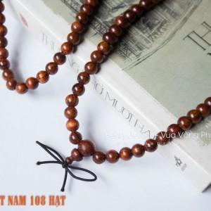 Chuỗi Tràng Hạt 108 hạt Sưa Đỏ Việt Nam Vân VIP